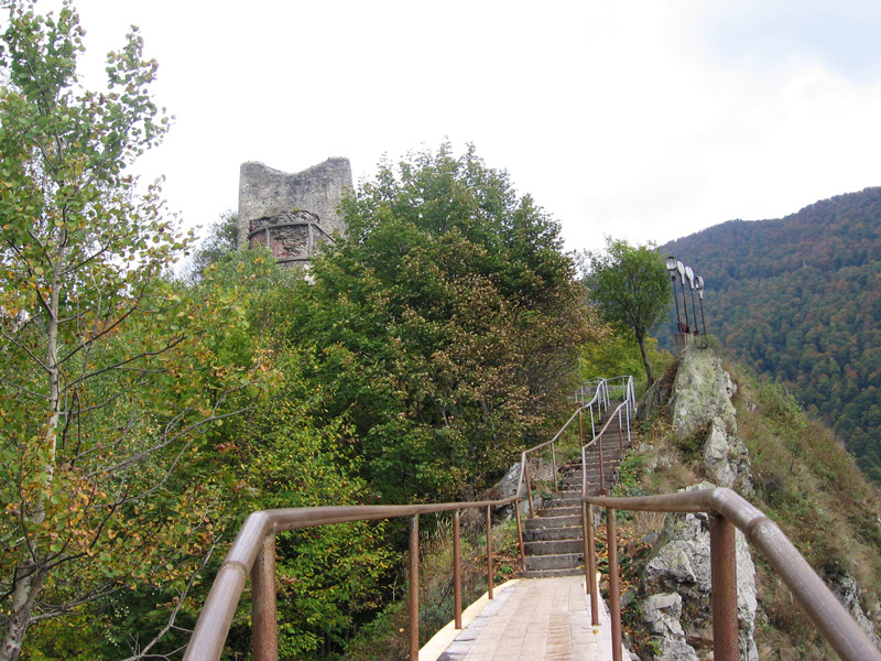 I crossed this short footbridge to arrive at the real Dracula's castle in Transylvania.