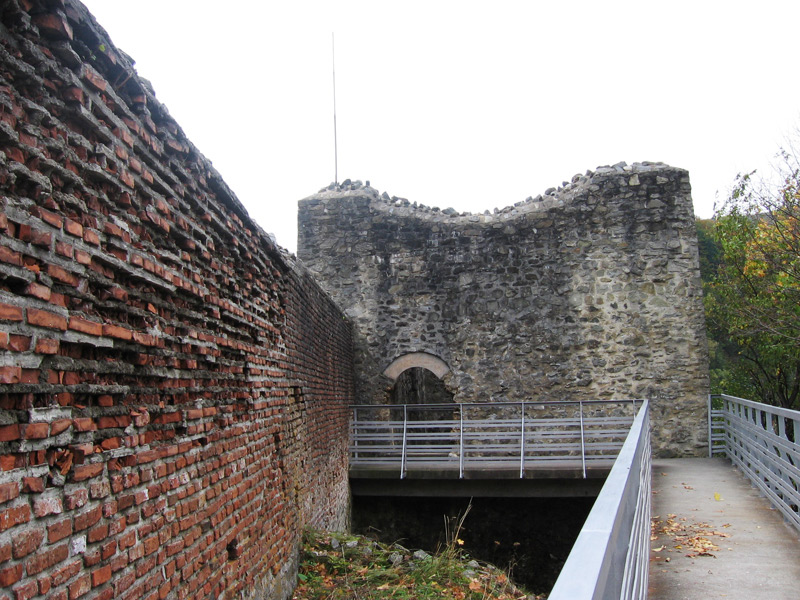 This is what remains of the main the tower within Castle Poenari.